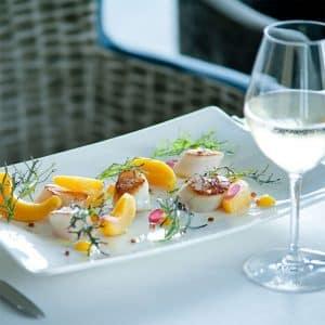 Restaurant Les 7 Mers : Menu «Grand Large» et coupe de champagne (2 personnes)
